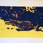2013Linoldruckgeckogelbblau