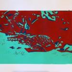 2013Linoldruckgeckogrünrot
