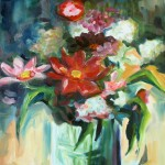 flowers 5 cm 50 x 60 Oil on Canvas (v)