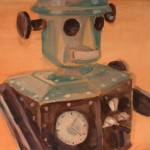 Robot Him cm 50 x 60 Oil on Canvas