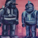 Tetsujin28-GORobots cm 50 x 60 Oil on Canvas