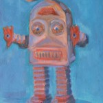 Thunder Robot cm 50 x 60 Oil on Canvas