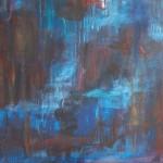 lava flow cm 70 x 100 Oil on Canvas