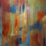 on the beach cm 70 x 100 Oil on Canvas
