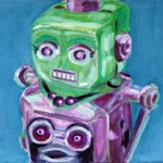 Robot Her cm 50 x 60 Oil on Canvas