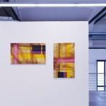 two 2xcm60x100 acrylic on canvas