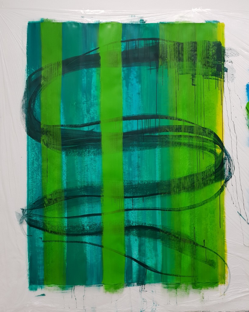 'why green' cm150x200_Acrylicon Paper
