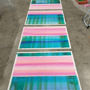 rhythm_I_IV_2020_cm280x100_acrylic_on_paper