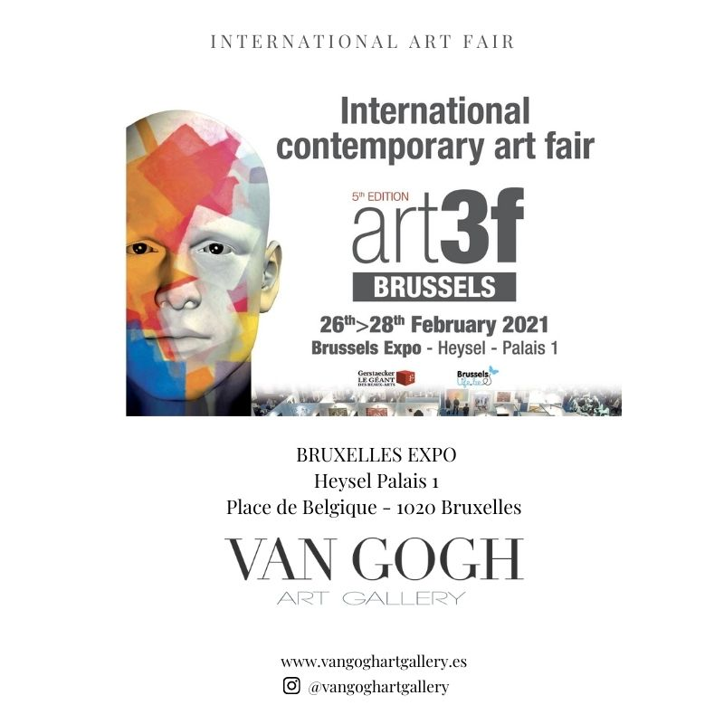 Flyer ¨BRUXELLES ART FAIR 2021¨- VAN GOGH ART GALLERY